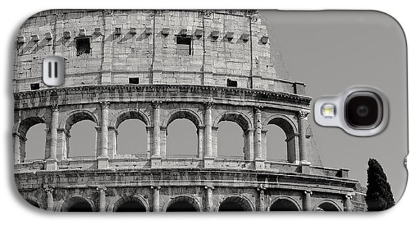 Colosseum Or Coliseum Black And White Galaxy S4 Case by Edward Fielding