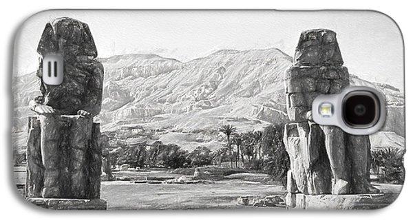 Ancient Galaxy S4 Cases - Colossi of Memnon 2 Galaxy S4 Case by Roy Pedersen