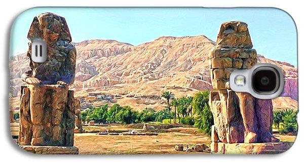 Ancient Galaxy S4 Cases - Colossi of Memnon Galaxy S4 Case by Roy Pedersen