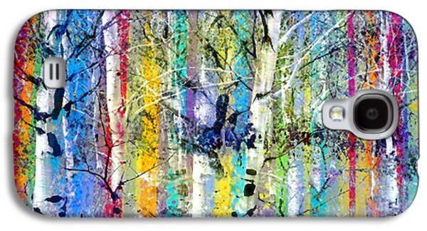 Abstracted Galaxy S4 Cases - Colour Playing in the Forest Galaxy S4 Case by Tara Turner