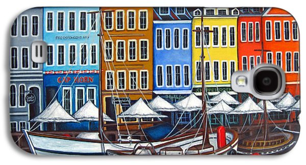 Harbor Paintings Galaxy S4 Cases - Colours of Nyhavn Galaxy S4 Case by Lisa  Lorenz