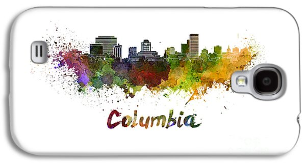 Colorful Abstract Galaxy S4 Cases - Columbia skyline in watercolor Galaxy S4 Case by Pablo Romero