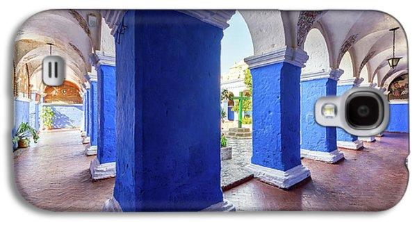 Columns In Santa Catalina Monastery Galaxy S4 Case by Jess Kraft