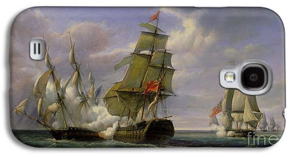 Combat Between The French Frigate La Canonniere And The English Vessel The Tremendous Galaxy S4 Case by Pierre Julien Gilbert