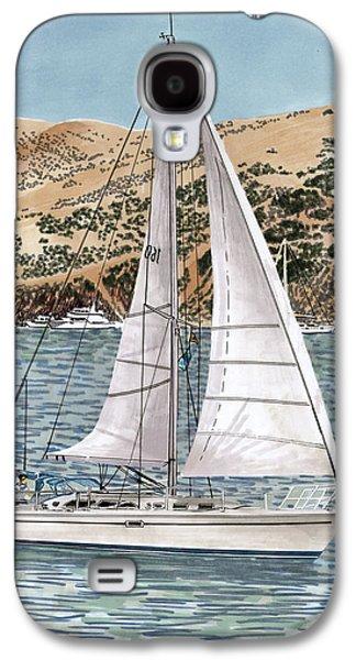 Coasting Galaxy S4 Cases - Come Monday Sailing Yacht Galaxy S4 Case by Jack Pumphrey