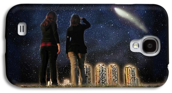 The View Mixed Media Galaxy S4 Cases - Comet over the City Galaxy S4 Case by Gravityx9  Designs