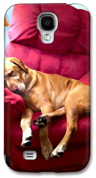 Dogs Digital Art Galaxy S4 Cases - Comfortable Canine Galaxy S4 Case by Ric Darrell