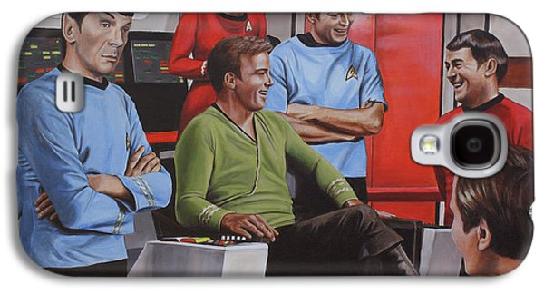 Enterprise Galaxy S4 Cases - Comic Relief Galaxy S4 Case by Kim Lockman