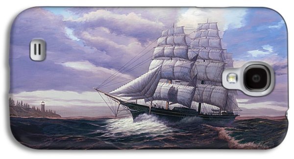Ocean Sailing Galaxy S4 Cases - Coming Through The Storm Galaxy S4 Case by Del Malonee