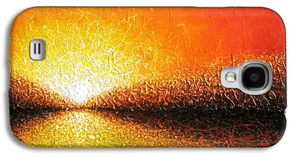 Sunset Abstract Galaxy S4 Cases - Common Thread Galaxy S4 Case by Jaison Cianelli