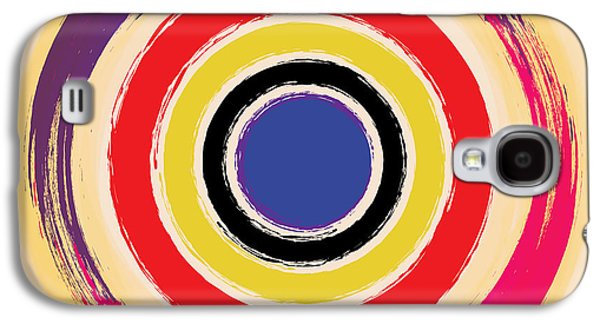 Contemporary Abstract Galaxy S4 Cases - Compass Brush Galaxy S4 Case by Gary Grayson