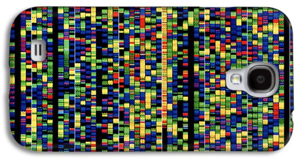 Computer Screen Showing A Human Genetic Sequence Galaxy S4 Case by David Parker