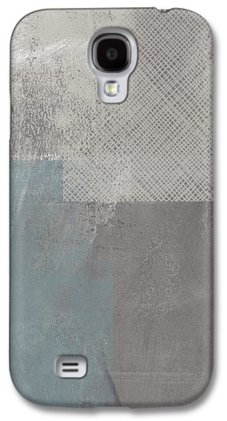 Concrete 3- Contemporary Abstract Art By Linda Woods Galaxy S4 Case by Linda Woods