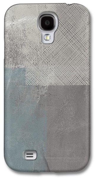 Industrial Mixed Media Galaxy S4 Cases - Concrete 3- Contemporary Abstract art by Linda Woods Galaxy S4 Case by Linda Woods