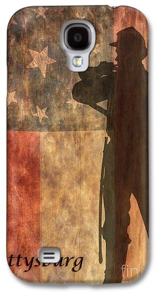 Confederate Flag And Bugler Gettysburg  Galaxy S4 Case by Randy Steele