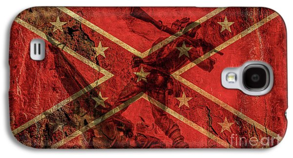 Confederate Flag And Mississippi Monument Galaxy S4 Case by Randy Steele
