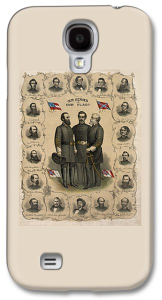 Civil War Galaxy S4 Cases - Confederate Generals of The Civil War Galaxy S4 Case by War Is Hell Store