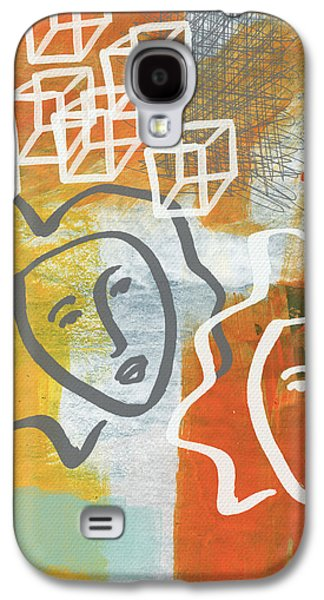 Face Mixed Media Galaxy S4 Cases - Conflicting Emotions Galaxy S4 Case by Linda Woods