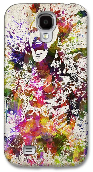 Boxer Drawings Galaxy S4 Cases - Conor McGregor in Color Galaxy S4 Case by Aged Pixel