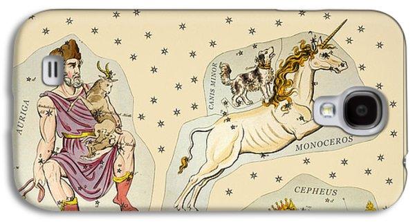 Constellations Drawings Galaxy S4 Cases - Constellations Antique no3 Galaxy S4 Case by Grigorios Moraitis