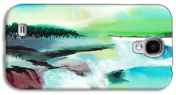 Surreal Landscape Drawings Galaxy S4 Cases - Constructing Reality 1 Galaxy S4 Case by Anil Nene
