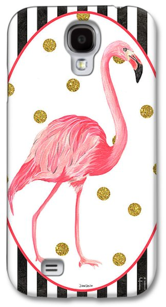 Contemporary Flamingos 2 Galaxy S4 Case by Debbie DeWitt