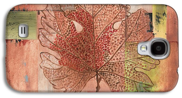 Contemporary Grape Leaf Galaxy S4 Case by Debbie DeWitt