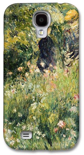 Conversation In A Rose Garden Galaxy S4 Case by Pierre Auguste Renoir