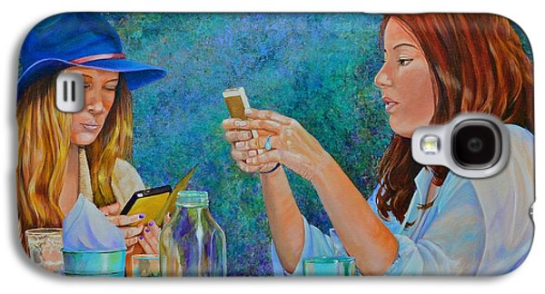 Water Jars Paintings Galaxy S4 Cases - Conversations Galaxy S4 Case by AnnaJo Vahle