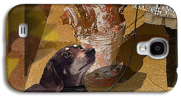 Dogs Digital Art Galaxy S4 Cases - Converse and Cocoa Galaxy S4 Case by Steven Head
