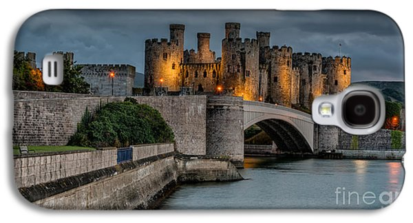 Conwy Castle By Lamplight Galaxy S4 Case by Adrian Evans