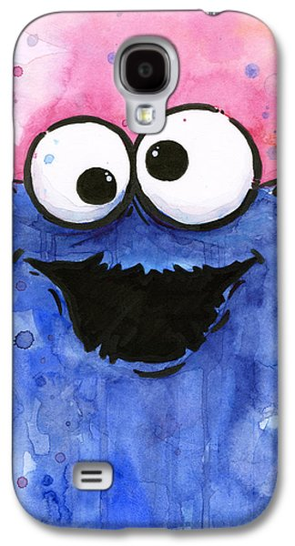 Character Portraits Galaxy S4 Cases - Cookie Monster Galaxy S4 Case by Olga Shvartsur