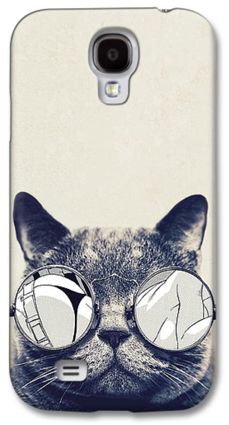 Cool Cat Galaxy S4 Case by Vitor Costa