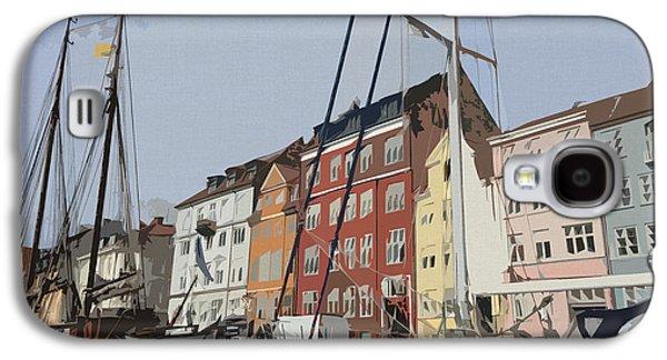Bedroom Art Digital Art Galaxy S4 Cases - Copenhagen Memories Galaxy S4 Case by Linda Woods