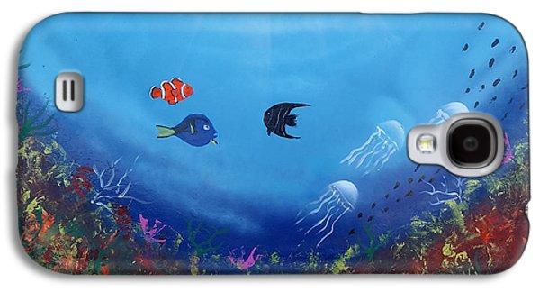 Alga Paintings Galaxy S4 Cases - Coral Reef Galaxy S4 Case by Ricardo Gonzalez