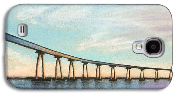 Skylines Pastels Galaxy S4 Cases - Coronado Bridge Sunset A Galaxy S4 Case by Michael Heikkinen