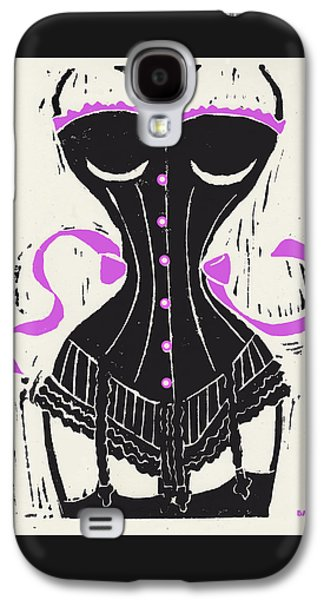 Corset And Stockings Linocut Galaxy S4 Case by Little Bunny Sunshine