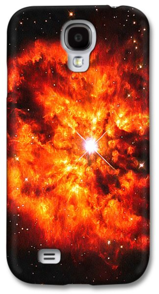 Digital Galaxy S4 Cases - Cosmic couple star and nebula Galaxy S4 Case by Matthias Hauser