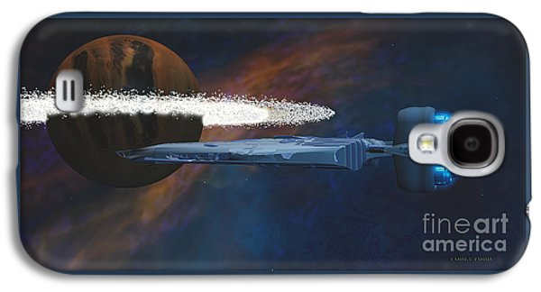 Cosmic Spaceship Galaxy S4 Case by Corey Ford