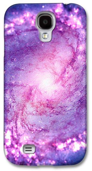 Enterprise Galaxy S4 Cases - Cosmic vacuum cleaner Spiral Galaxy M83 Galaxy S4 Case by Philipp Rietz