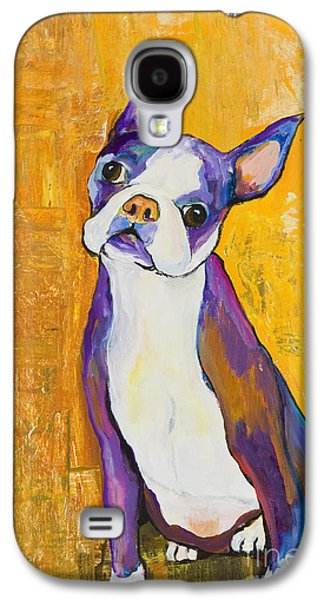 Dog Portrait Galaxy S4 Cases - Cosmo Galaxy S4 Case by Pat Saunders-White