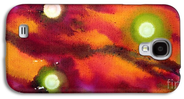 Constellations Paintings Galaxy S4 Cases - Cosmos Galaxy S4 Case by Kim Peto