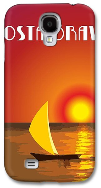 Digital Abstract Drawings Galaxy S4 Cases - Costa Brava By Quim Abella Galaxy S4 Case by Joaquin Abella