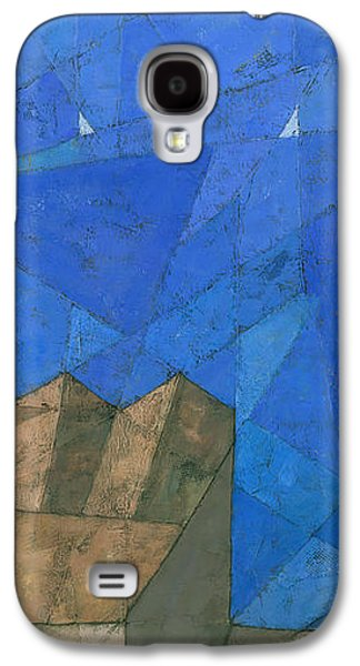 Abstracts Galaxy S4 Cases - Cote d Azur I Galaxy S4 Case by Steve Mitchell