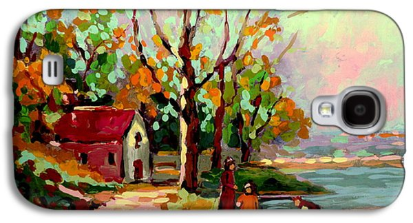 Walden Pond Galaxy S4 Cases - Cottage Country The Eastern Townships A Romantic Summer Landscape Galaxy S4 Case by Carole Spandau