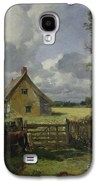 Cottage In A Cornfield Galaxy S4 Case by John Constable