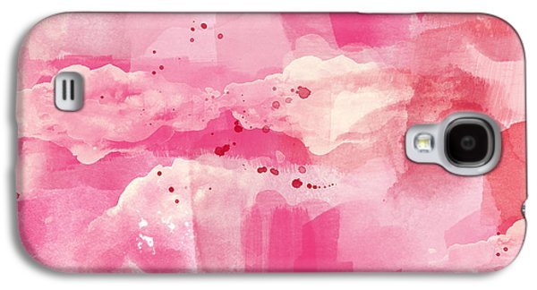 Cotton Candy Clouds- Abstract Watercolor Galaxy S4 Case by Linda Woods