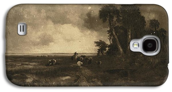 Landscapes Photographs Galaxy S4 Cases - Country Landscape With Cows And Dirt Galaxy S4 Case by Gillham Studios