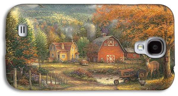 Country Roads Take Me Home Galaxy S4 Case by Chuck Pinson