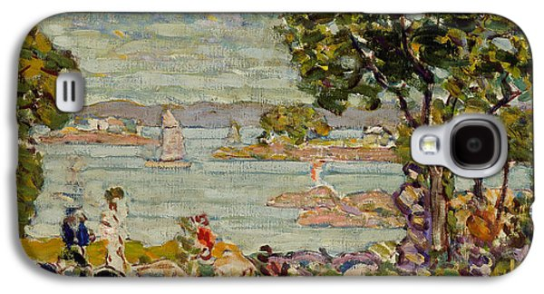 Maine Landscapes Paintings Galaxy S4 Cases - Cove  Maine Galaxy S4 Case by Maurice Brazil Prendergast